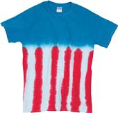 Dyenomite Novelty Flag Tie Dye T-Shirt