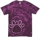 Dyenomite Pawprints Paw Tie Dye T-Shirts