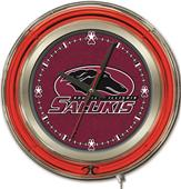 "Holland Southern Illinois Univ 15"" Neon Logo Clock"