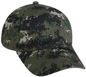 OC Sports Digital Camo Adjustable Wash Cotton Caps