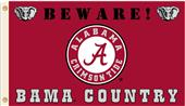 College Alabama Beware of Bama Country 3'x5' Flag
