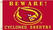 College Iowa State Beware Cyclones Country Flag