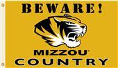 College Missouri Tigers Beware Mizzou Country Flag