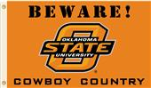 College Oklahoma State Beware Cowboy Country Flag