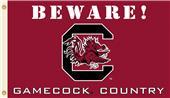 College S. Carolina Beware Gamecock Country Flag