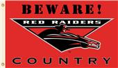College Texas Tech Beware Red Raiders Country Flag