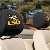 College LSU Tigers Headrest Covers - Set of 2