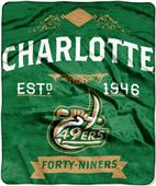 "Northwest NCAA UNC Charlotte 50""x60"" Raschel Throw"