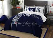 Northwest MLB NY Yankees Full Comforter & 2 Shams