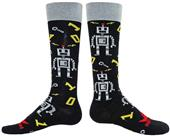 Red Lion Robots Over-The-Calf Socks - Closeout