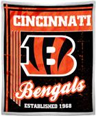 Northwest NFL Bengals 50x60 Mink Sherpa Throw