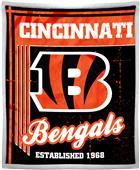 Northwest NFL Bengals 50x60 Mink Sherpa Throw