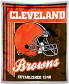 Northwest NFL Browns 50x60 Mink Sherpa Throw