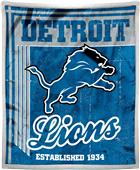 Northwest NFL Lions 50x60 Mink Sherpa Throw
