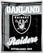 Northwest NFL Raiders 50x60 Mink Sherpa Throw