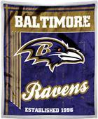 Northwest NFL Ravens 50x60 Mink Sherpa Throw