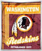 Northwest NFL Redskins 50x60 Mink Sherpa Throw