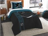Northwest NHL Sharks Twin Comforter & Sham