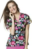 WonderWink Origins Women's Charlie Print Scrub Top