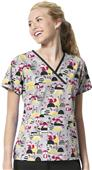 WonderWink Origins Womens Charlie Print Scrub Top