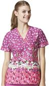 WonderWink Womens Serenity Print Scrub Top