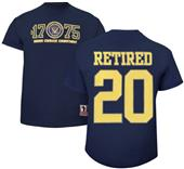 Battlefield Collection Navy Retired Jersey Tee