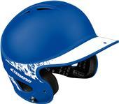 2-Tone Rubberized Matte Finish Batting Helmets