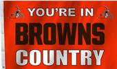 NFL Your're In Brown Country 3' x 5' Flag