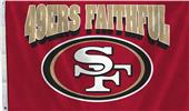 NFL 49ers Faithful 3'x5' Flag w/Grommets
