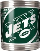 NFL New York Jets Stainless Steel Can Holder