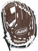 "Wilson A200 TB 9.5"" Utility Youth Baseball Glove"