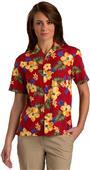 Edwards Unisex Tropical Hibiscus Camp Shirt