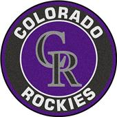 Fan Mats MLB Colorado Rockies Roundel Mat