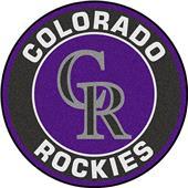 Fan Mats MLB Colorado Rockies Roundel Mat