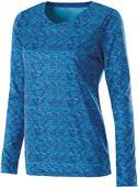 Holloway Ladies Long Sleeve Space Dye Shirts