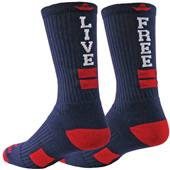 Red Lion Live Free Crew Socks - Closeout
