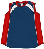 VKM Women's Sleeveless Mesh Softball Jerseys-CO