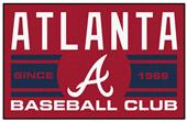 Fan Mats MLB Atlanta Braves Starter Mat