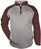 Badger Sport Adult Sport Heather 1/4 Zip Pullover