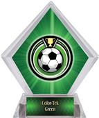 Eclipse Soccer Green Diamond Ice Trophy