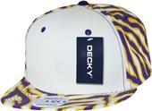 Decky Ziger White Front 6-panel Snapback Caps