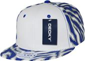 Decky Ziger White Front 6-panel Snapback Caps