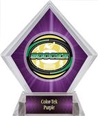 Awards Classic Soccer Purple Diamond Ice Trophy