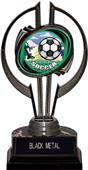 "Hasty Awards Black Hurricane 7"" HD Soccer Trophy"