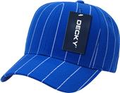 Decky Pin Striped Adjustable 6-panel Ball Caps