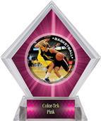 P.R. Female Basketball Pink Diamond Ice Trophy