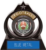"Hasty Awards Eclipse 6"" Shield Football Trophy"