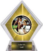 P.R. Male Basketball Yellow Diamond Ice Trophy