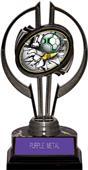 "Awards Black Hurricane 7"" Bust-Out Soccer Trophy"