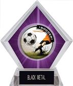 Awards P.R. Male Soccer Purple Diamond Ice Trophy